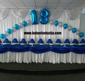 Dekoracija balonima u Smederevu 18 rodjendan