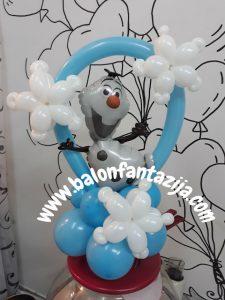 dekoracija balonima za rodjendane olaf