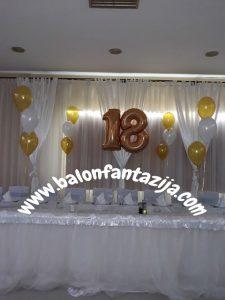 dekoracija balonima za vase punoletstvo u Smederevu 2